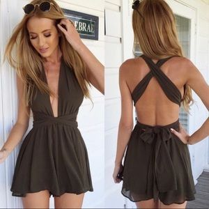 Other - Lioness Olive Green Multi-Way Romper